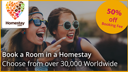 Extra discount on Homestay bookings