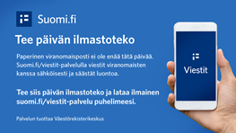 Student: activate paperless communication with Finnish authorities